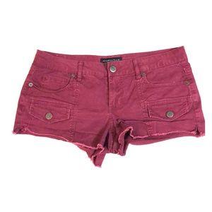 AEROPOSTALE burgundy cargo shorty shorts